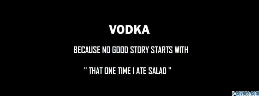 funny vodka quote Facebook Cover timeline photo banner for fb