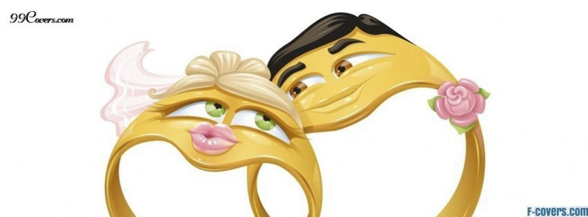 funny wedding rings facebook cover
