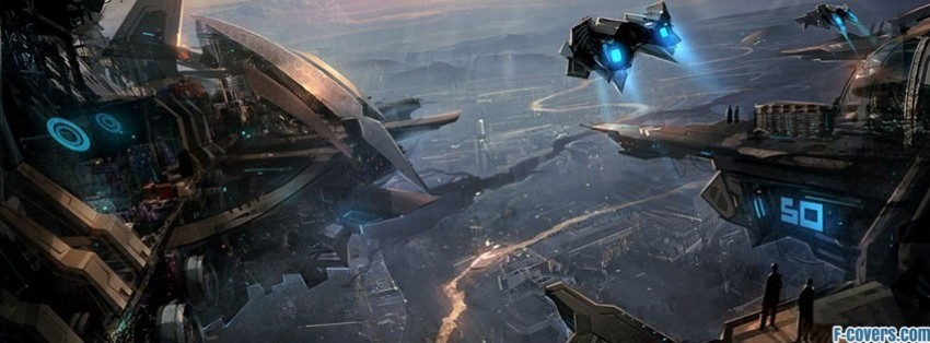 futuristic fantasy art 2 facebook cover
