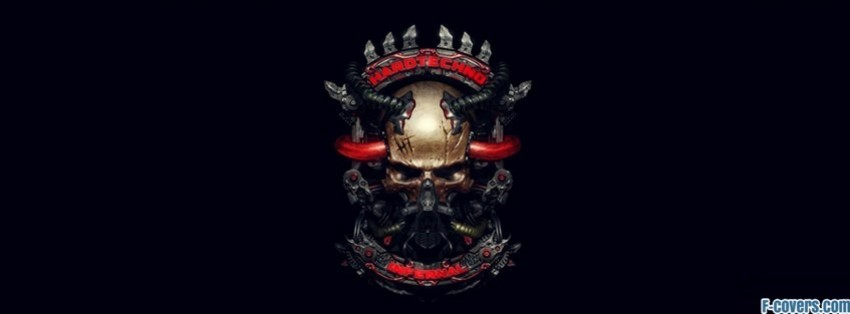 futuristic music skull facebook cover