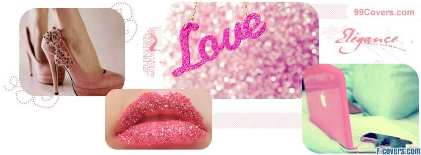 girly love collage facebook cover