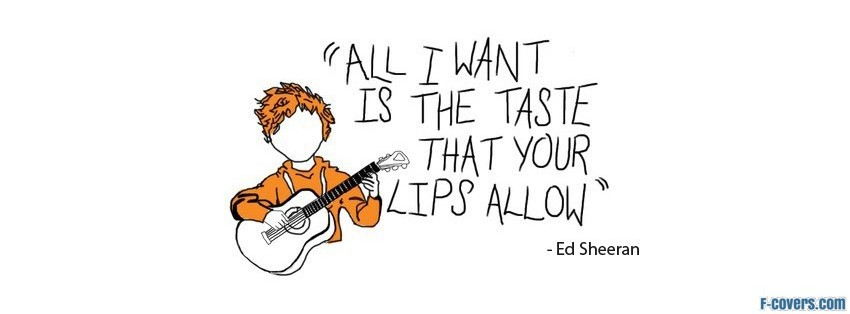 give me love ed sheeran facebook cover