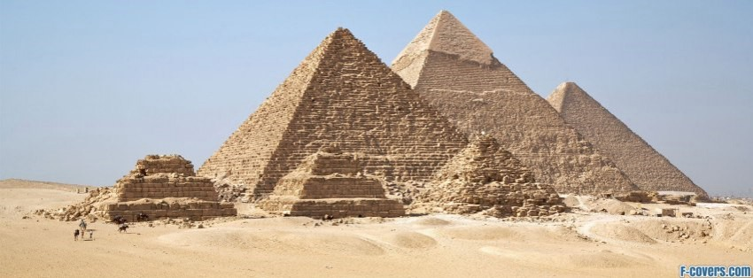 gizah pyramids facebook cover