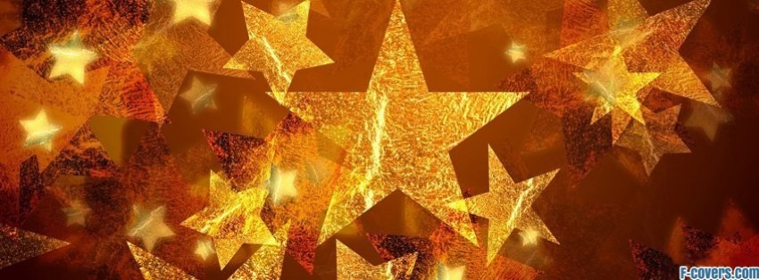 gold stars facebook cover