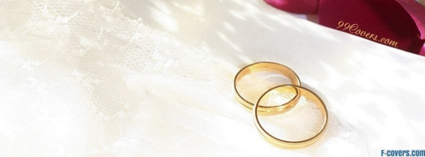 gold wedding rings facebook cover