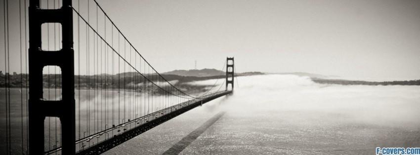 golden gate bridge fog facebook cover