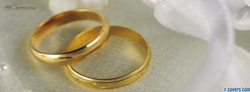 golden wedding rings facebook cover