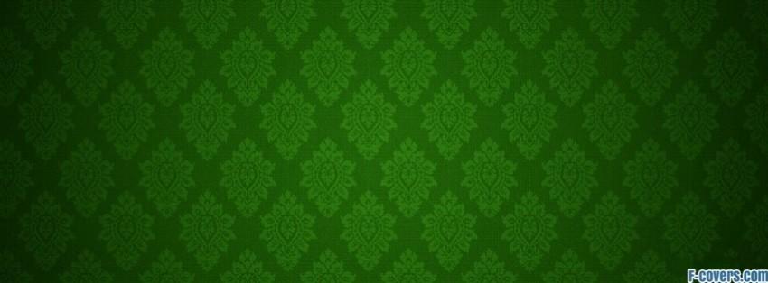 green damask Facebook Cover timeline photo banner for fb