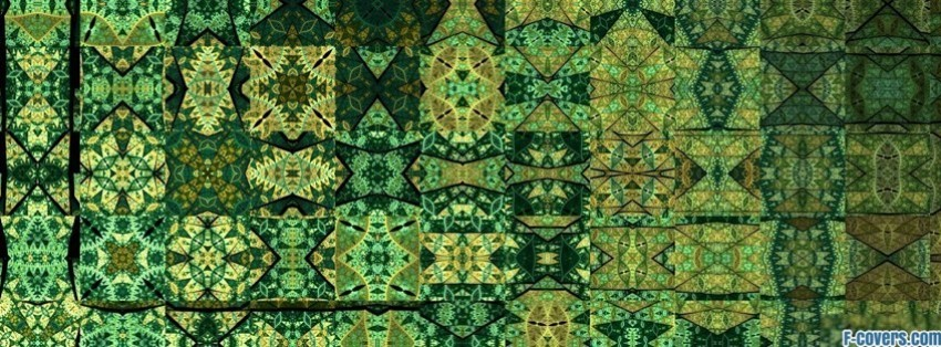 green pattern facebook cover timeline photo banner for fb