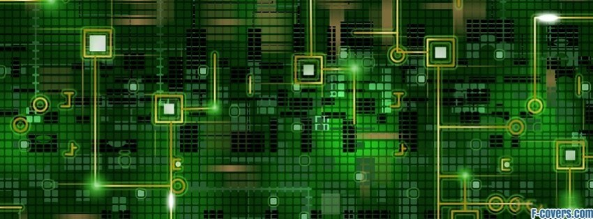 green tech pattern facebook cover timeline photo banner for fb