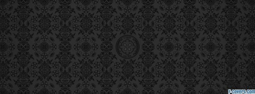grey black damask pattern facebook cover timeline photo banner for fb