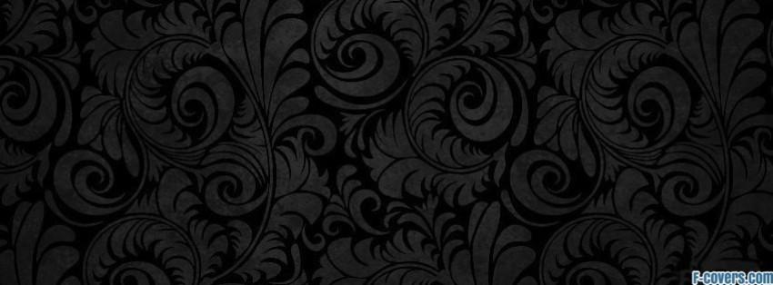 grey black floral swirls facebook cover timeline photo banner for fb