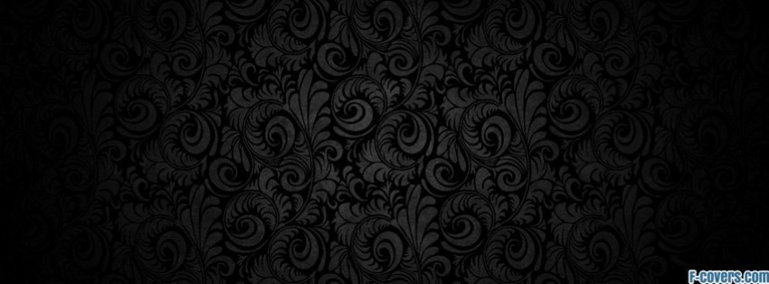 grey floral facebook cover
