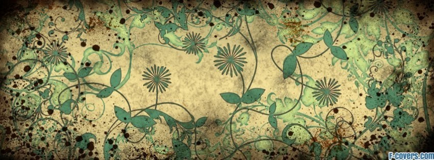grunge floral pattern facebook cover
