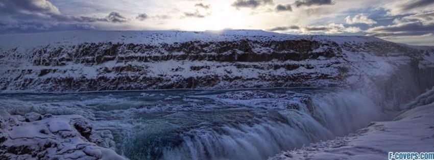 gullfoss waterfall facebook cover