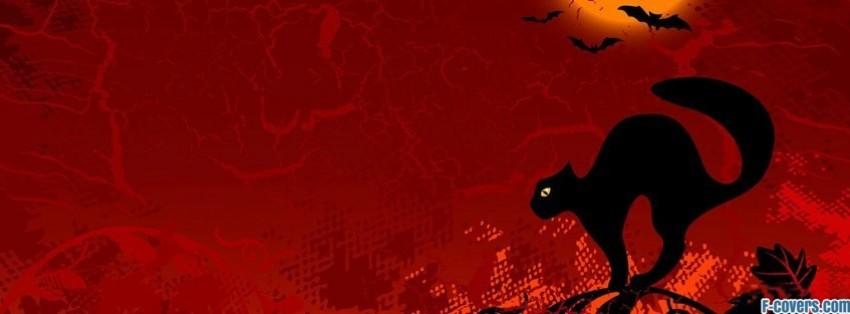 halloween cat facebook cover - Halloween Facebook Banners