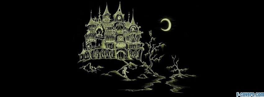 halloween haunted house facebook cover - Halloween Facebook Banners