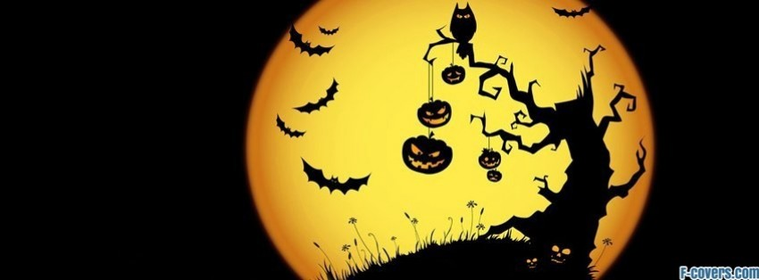 halloween moon 2 facebook cover - Halloween Cover Pictures