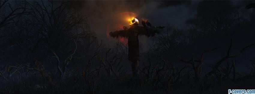 halloween scarecrow facebook cover - Halloween Facebook Banners