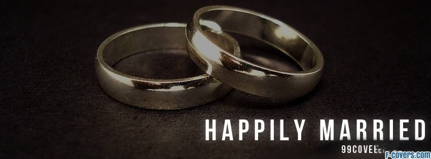 happily married facebook cover