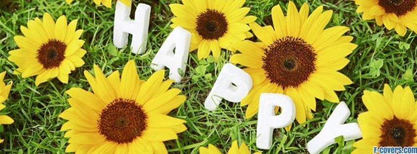 happy flower grass facebook cover