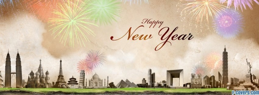 Happy New Year Around The World Facebook Cover