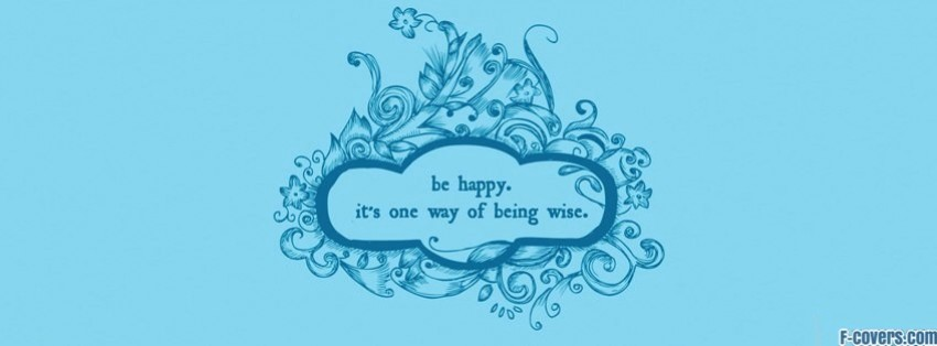 Facebook Cover Photos Quotes About Happiness: Happy Quote Facebook Cover Timeline Photo Banner For Fb