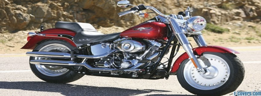 harley davidson flstf softail fat boy facebook cover