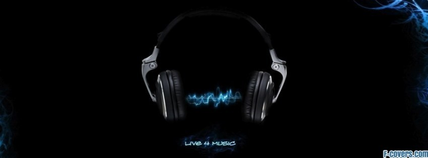 Headphones Music Facebook Cover Timeline Photo Banner For Fb