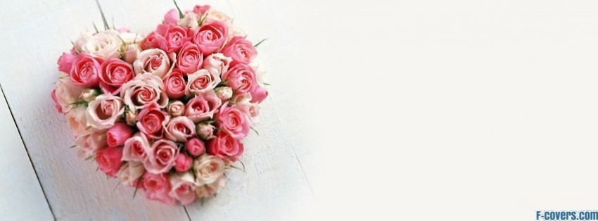 heart bouquet facebook cover