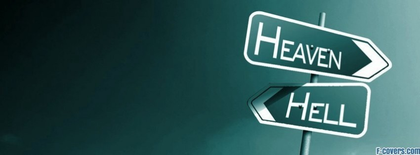 heaven hell sign facebook cover