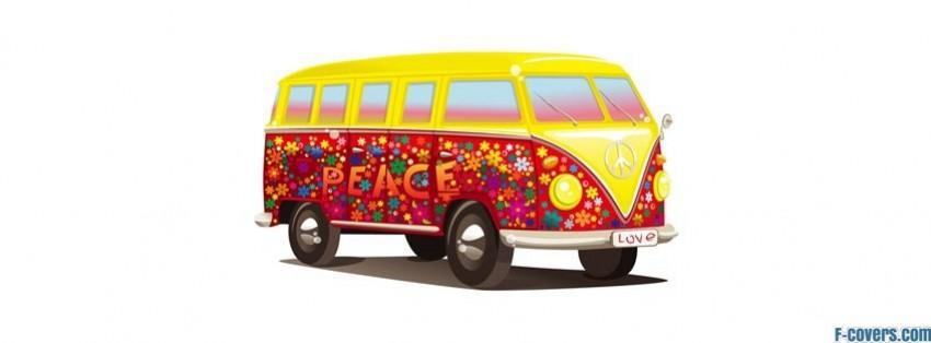 hippie volkswagen peace van facebook cover