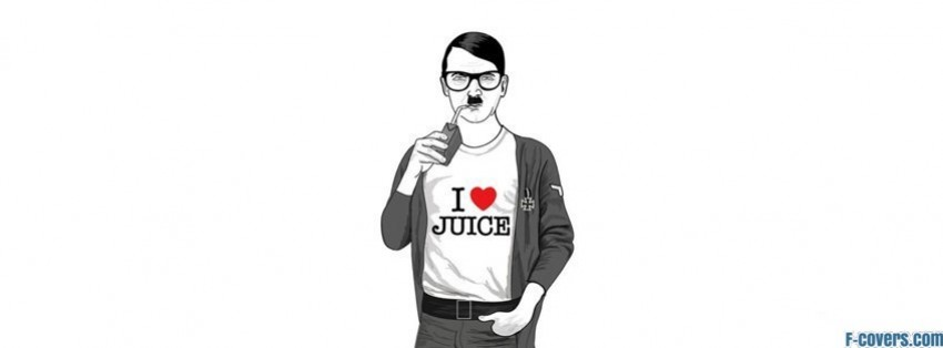 hipster adolf hitler loves juice facebook cover