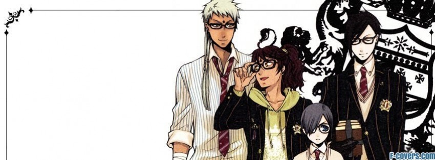 Hipster Anime Boys With School Uniforms Facebook Cover