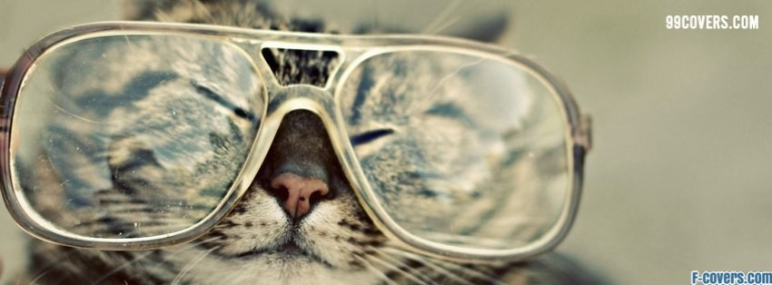 Psychedelic Hipster Cat hipster glasses cat