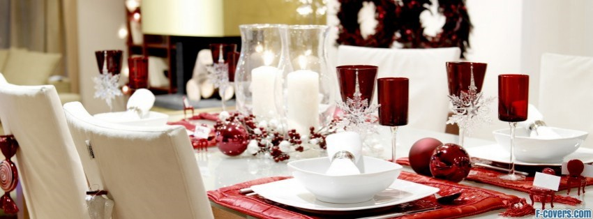 holiday table new year facebook cover