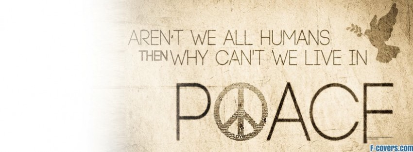 humanity peace facebook cover
