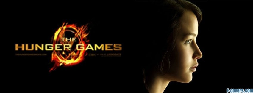 hunger games flaming katniss facebook cover