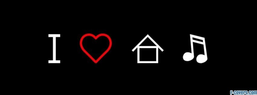 i love house music house music symbol facebook cover ForHouse Music Symbol