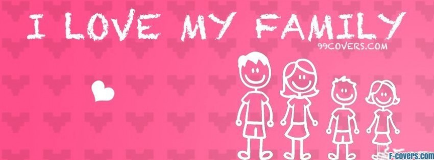 i love my stick family Facebook Cover timeline photo banner for fb