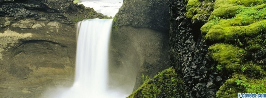iceland waterfall facebook cover