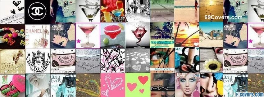 facebook covers girly collage
