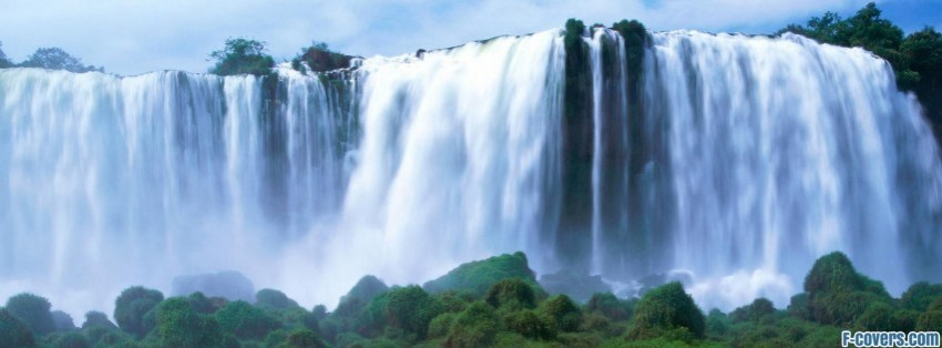 Iguassu Falls Brazil Waterfall Facebook Cover Timeline