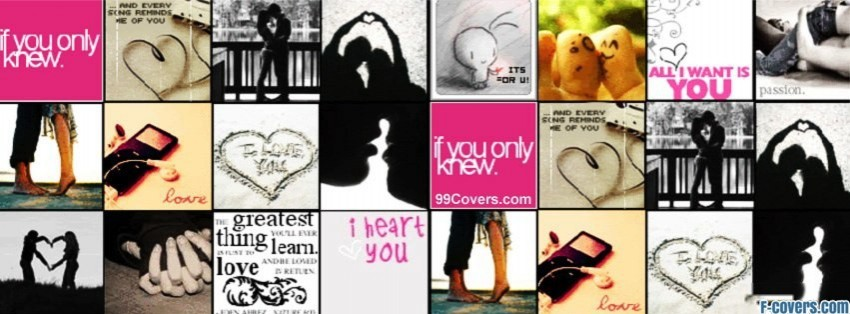 in love collage facebook cover