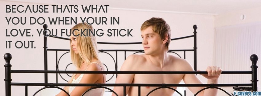 in love stick it out facebook cover