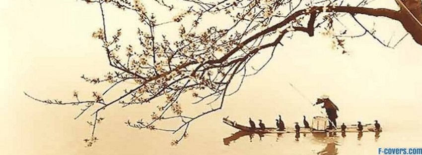 japanese art boat facebook cover