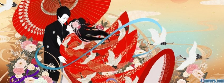 japanese art couple facebook cover
