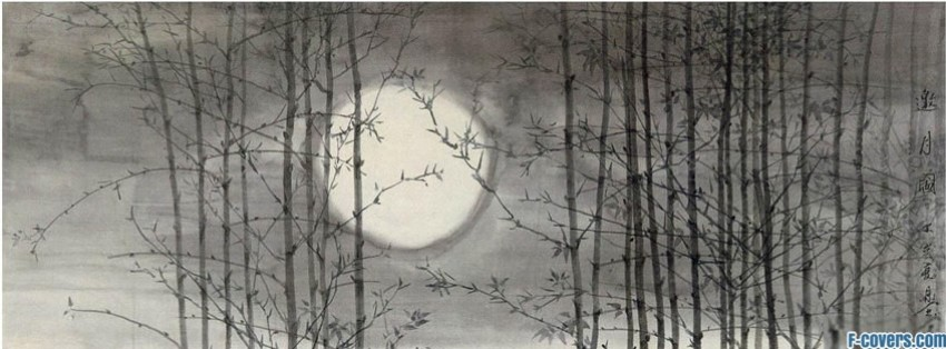 japanese art moon facebook cover
