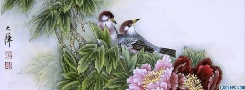 japanese art sparrows facebook cover
