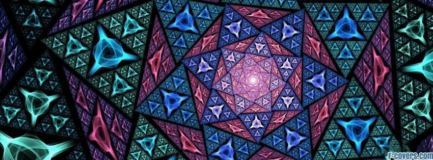 Kaleidoscope Triangles Facebook Cover Timeline Photo